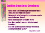 guiding questions continued