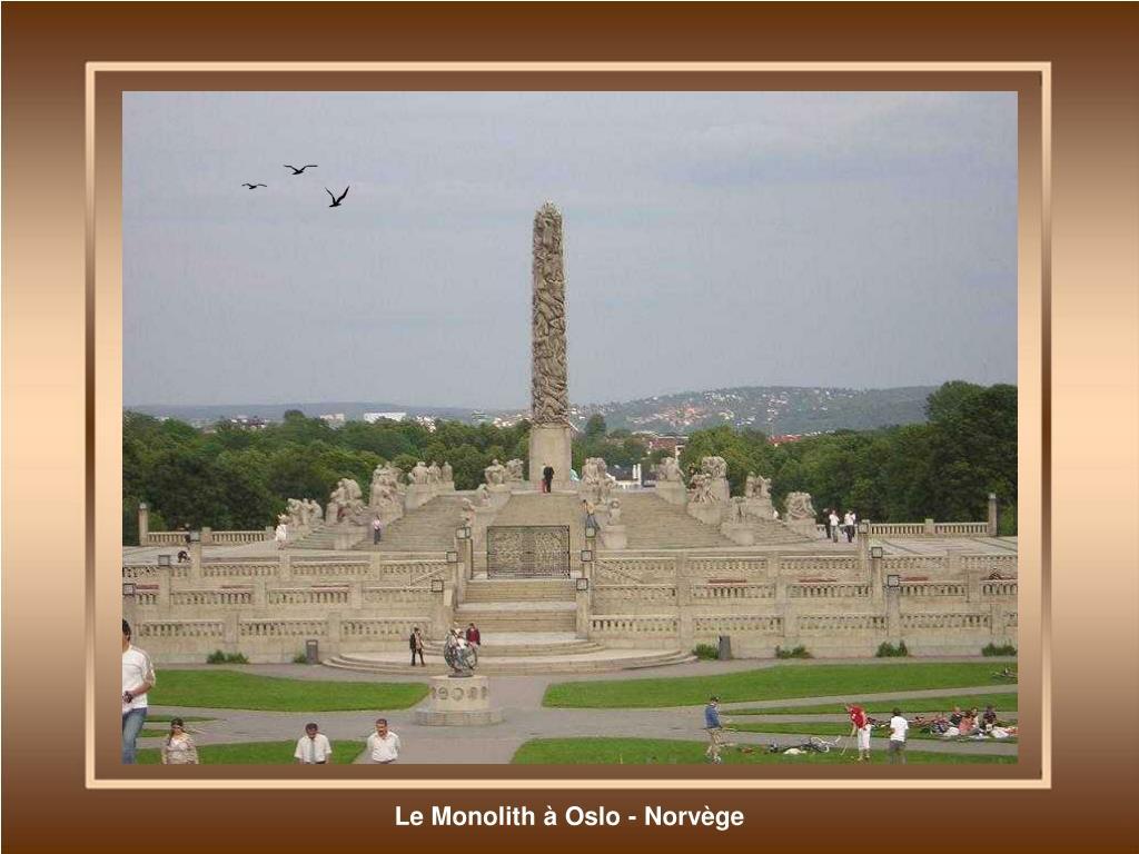 Le Monolith à Oslo - Norvège