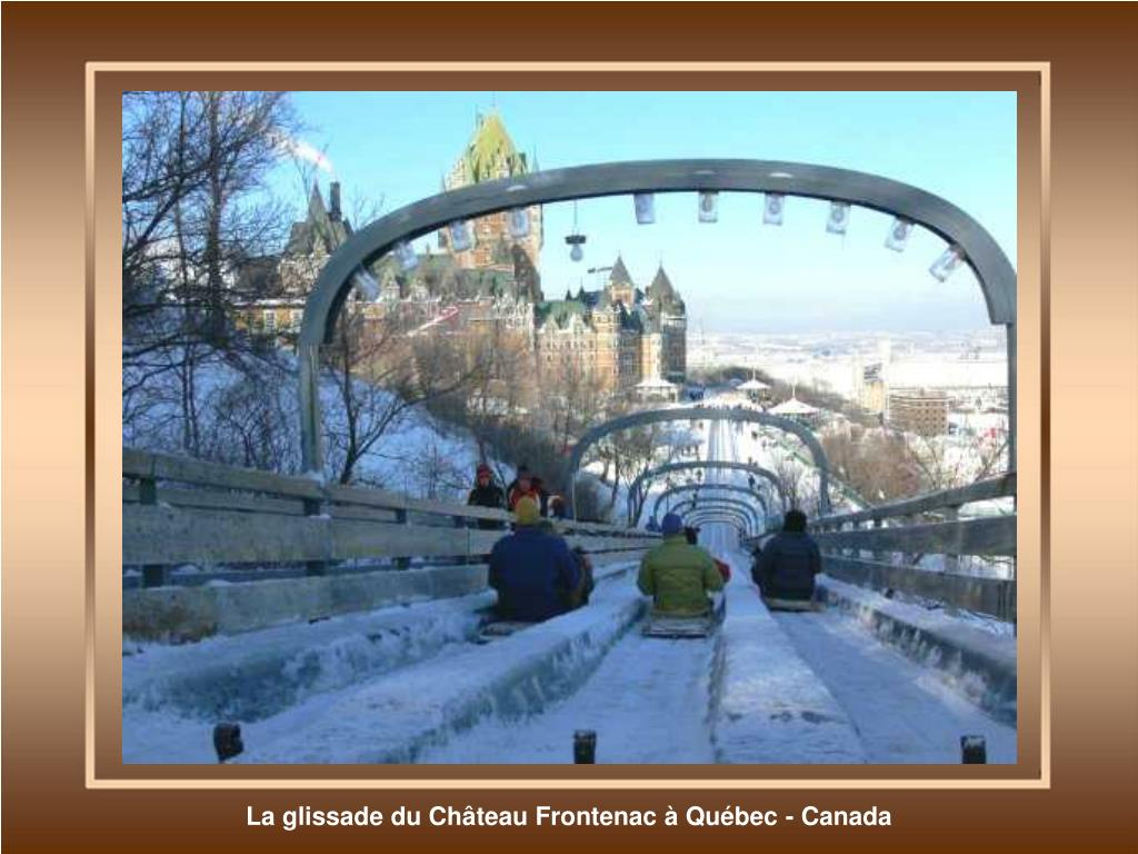 La glissade du Château Frontenac à Québec - Canada