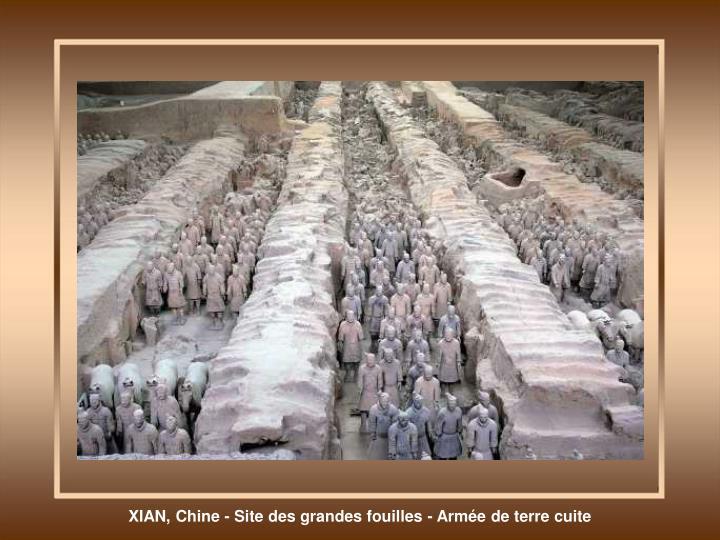 XIAN, Chine - Site des grandes fouilles - Armée de terre cuite