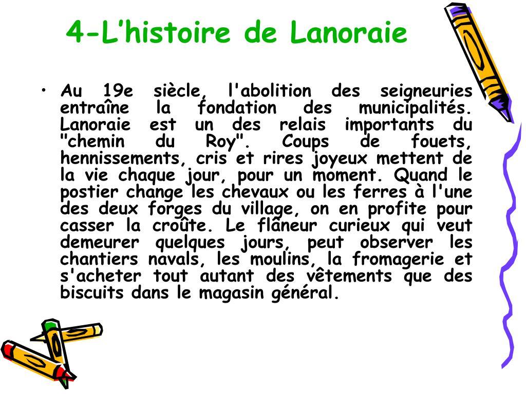 4-L'histoire de Lanoraie