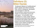 definitions 2 milton keynes