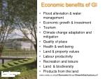 economic benefits of gi