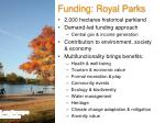 funding royal parks