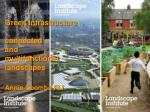 green infrastructure connected and multifunctional landscapes