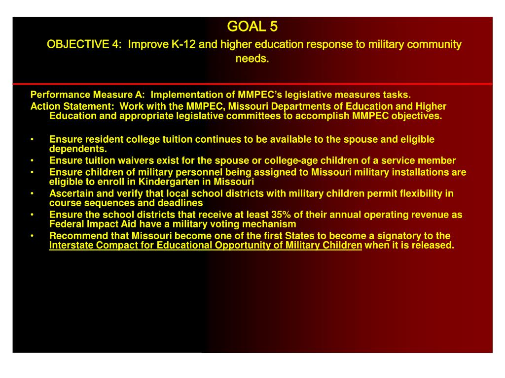 Performance Measure A:  Implementation of MMPEC's legislative measures tasks.