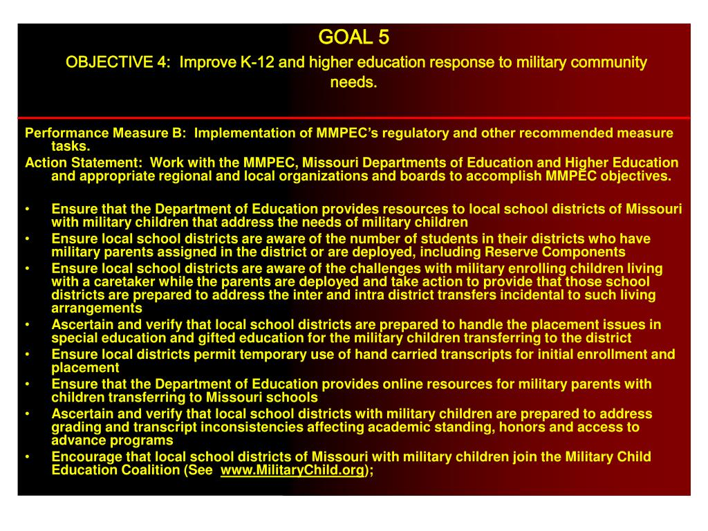 Performance Measure B:  Implementation of MMPEC's regulatory and other recommended measure tasks.