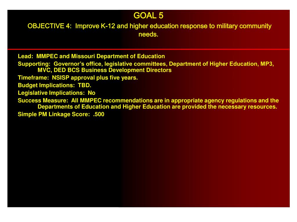 Lead:  MMPEC and Missouri Department of Education