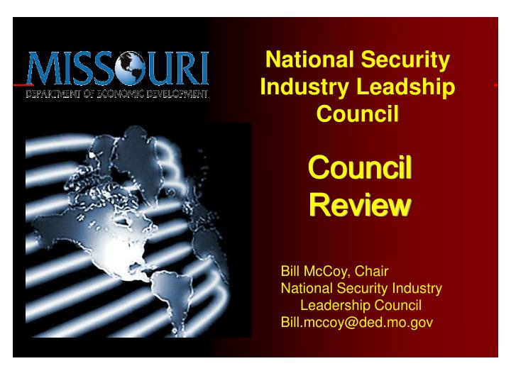 National Security Industry Leadship Council