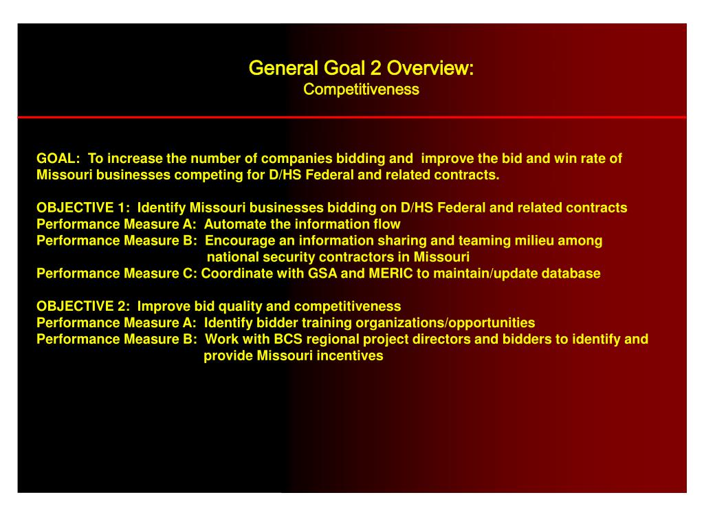 General Goal 2 Overview: