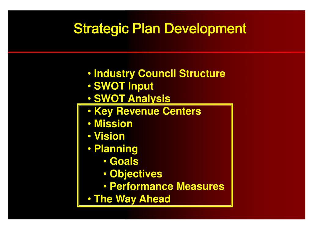 Strategic Plan Development