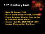 18 th century lad