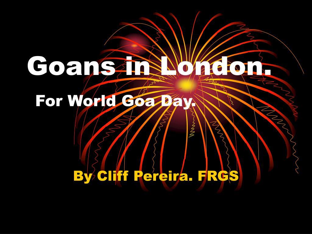 goans in london for world goa day