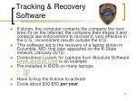 tracking recovery software