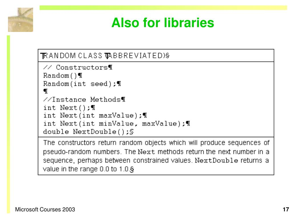 Also for libraries