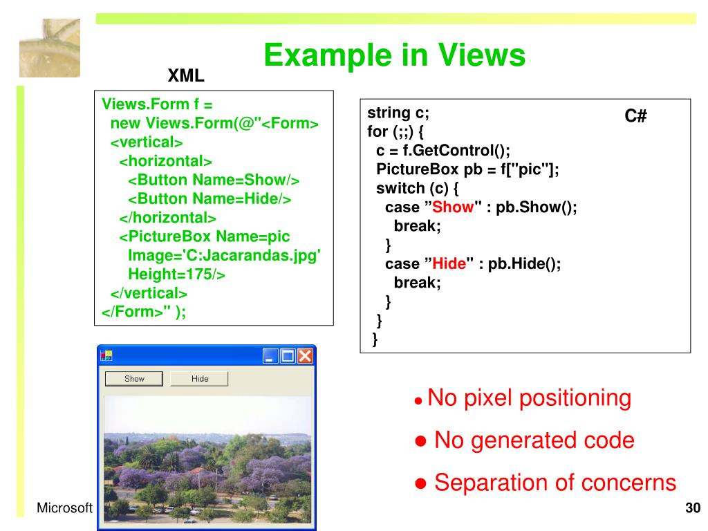 Example in Views