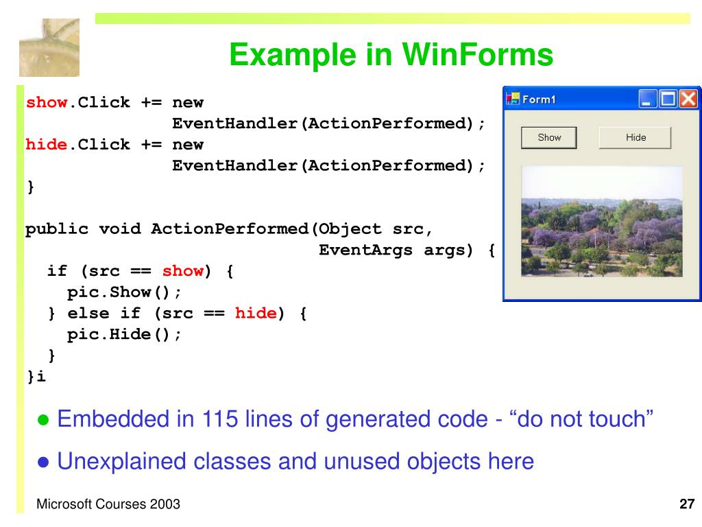 Example in WinForms