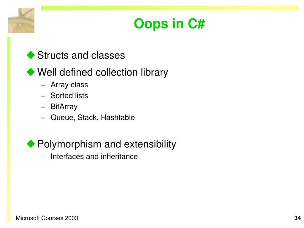 Oops in C#