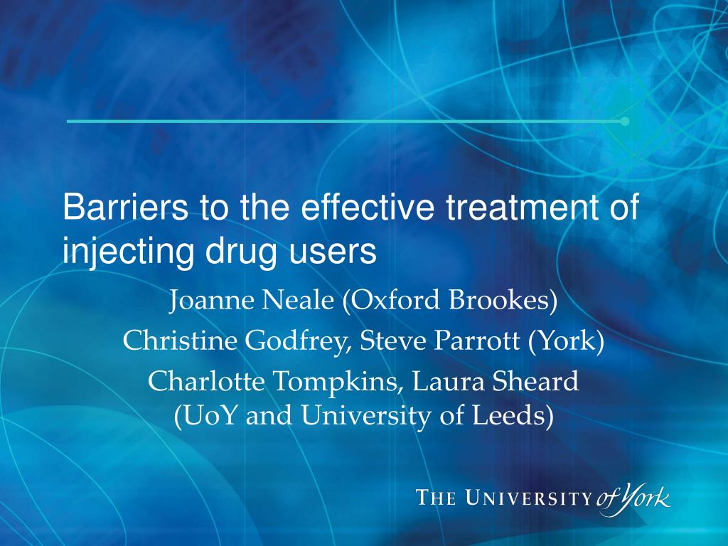 Barriers to the effective treatment of injecting drug users