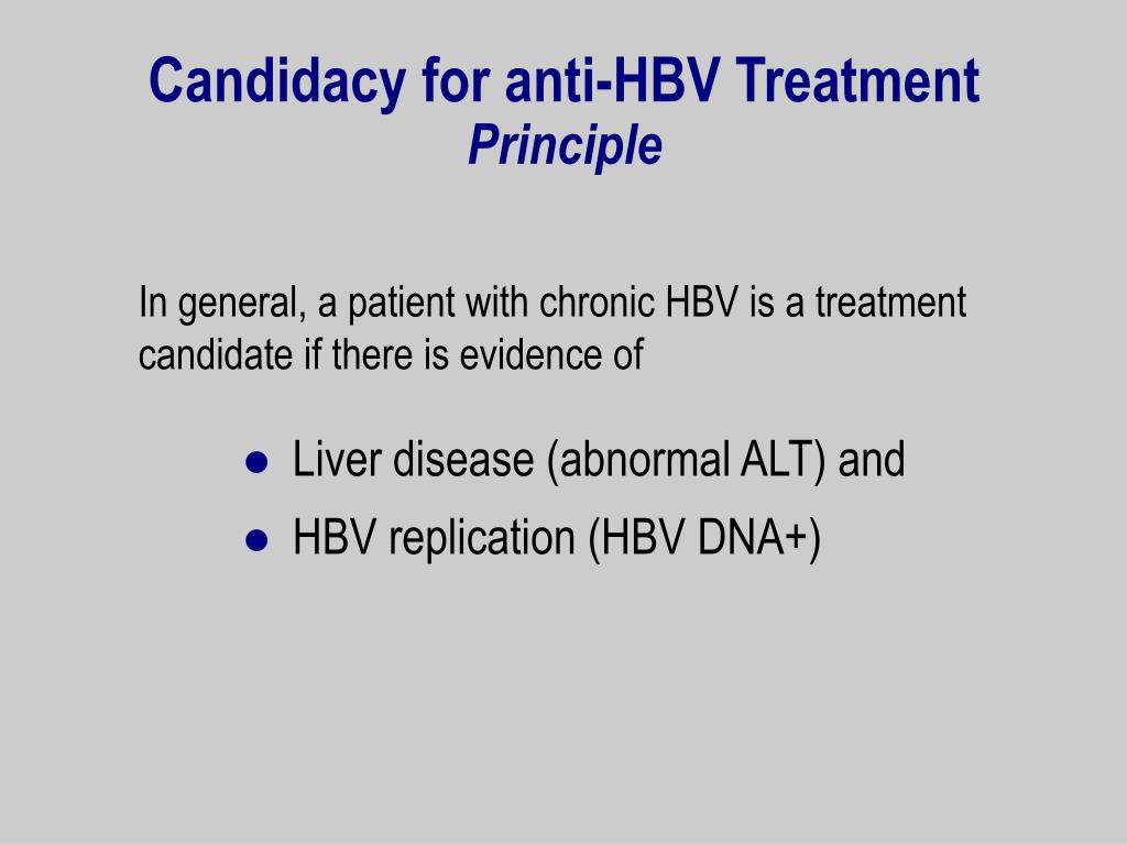 Candidacy for anti-HBV Treatment