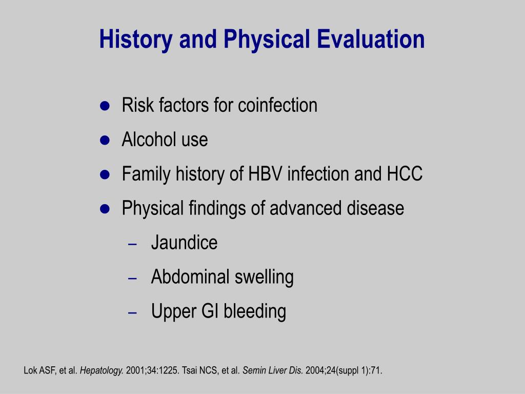 History and Physical Evaluation