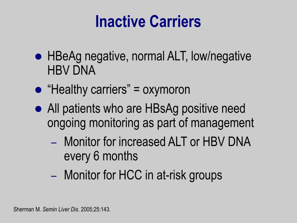 Inactive Carriers