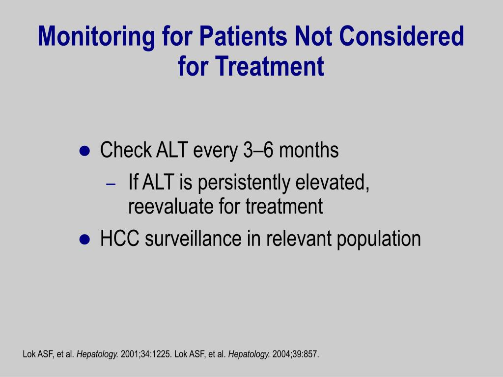 Monitoring for Patients Not Considered for Treatment