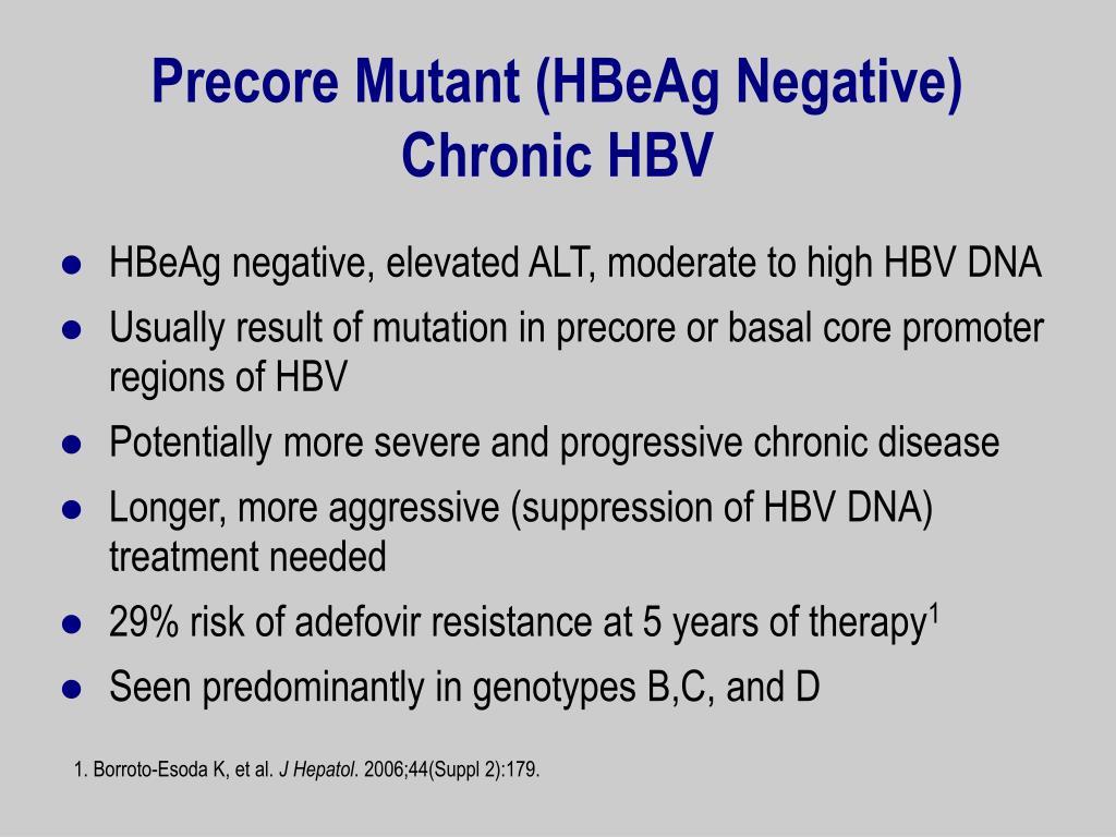 Precore Mutant (HBeAg Negative)