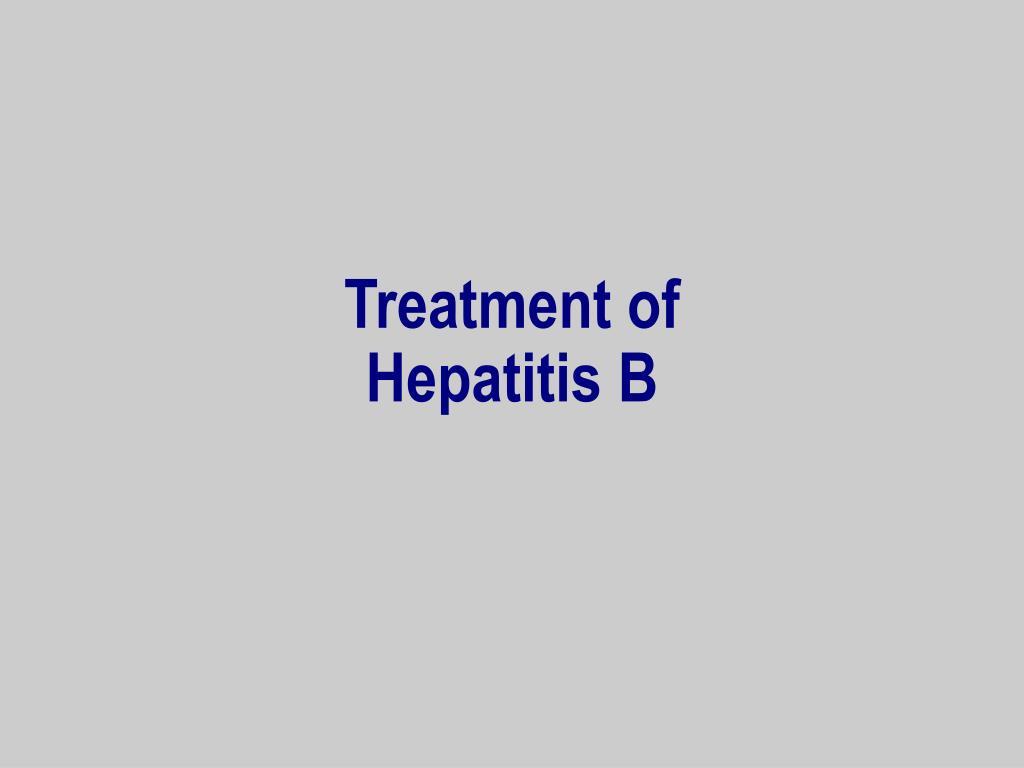 Treatment of