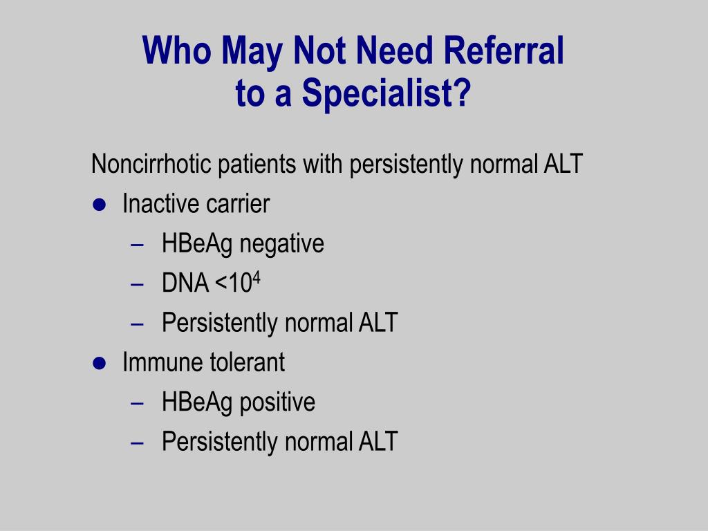 Who May Not Need Referral