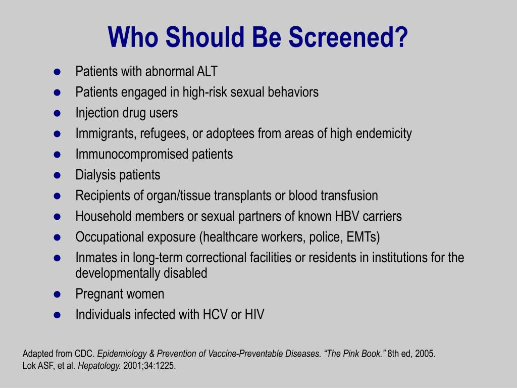 Who Should Be Screened?