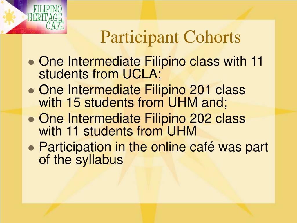 Participant Cohorts