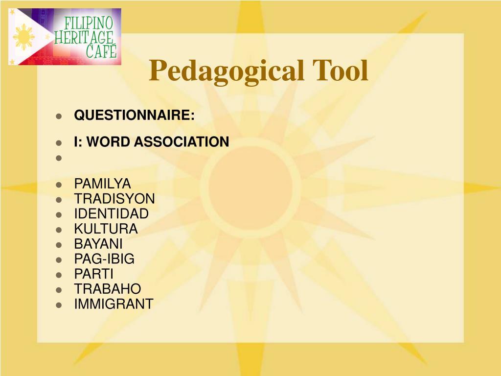 Pedagogical Tool