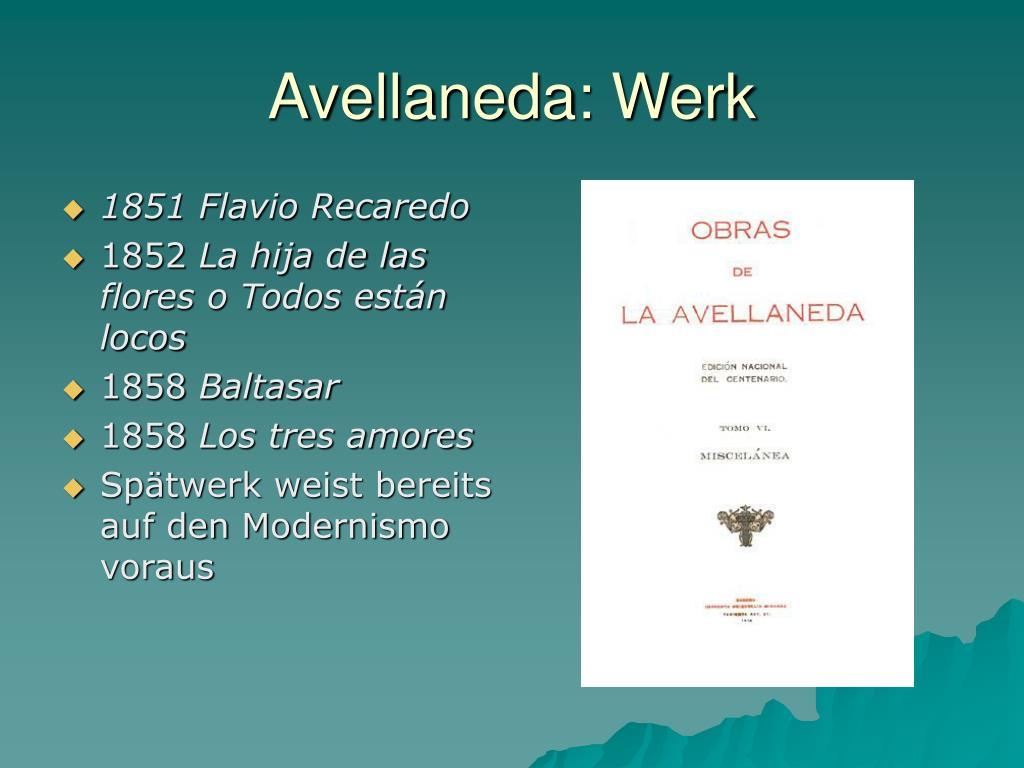 Avellaneda: Werk