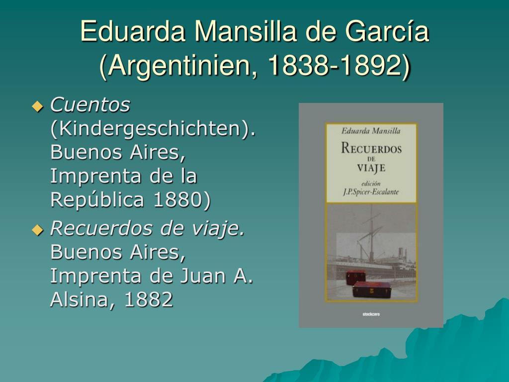 Eduarda Mansilla de García