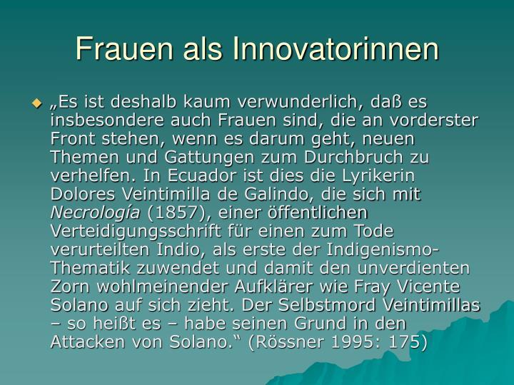 Frauen als innovatorinnen