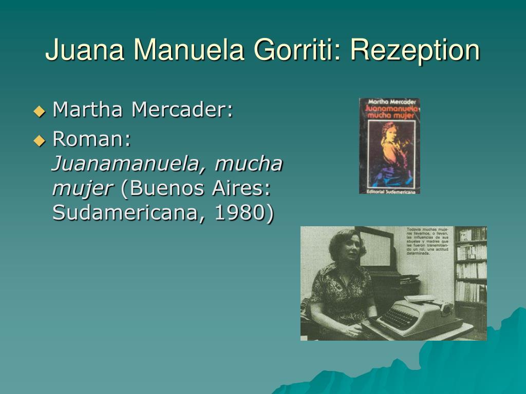 Juana Manuela Gorriti: Rezeption