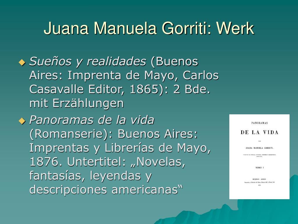 Juana Manuela Gorriti: Werk