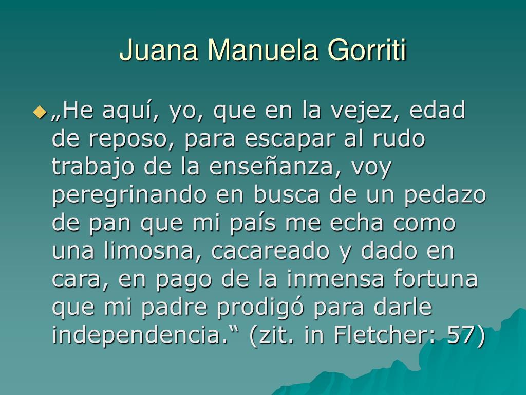 Juana Manuela Gorriti