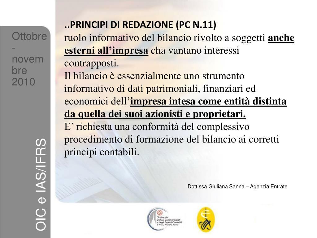 ..PRINCIPI DI REDAZIONE (PC N.11)