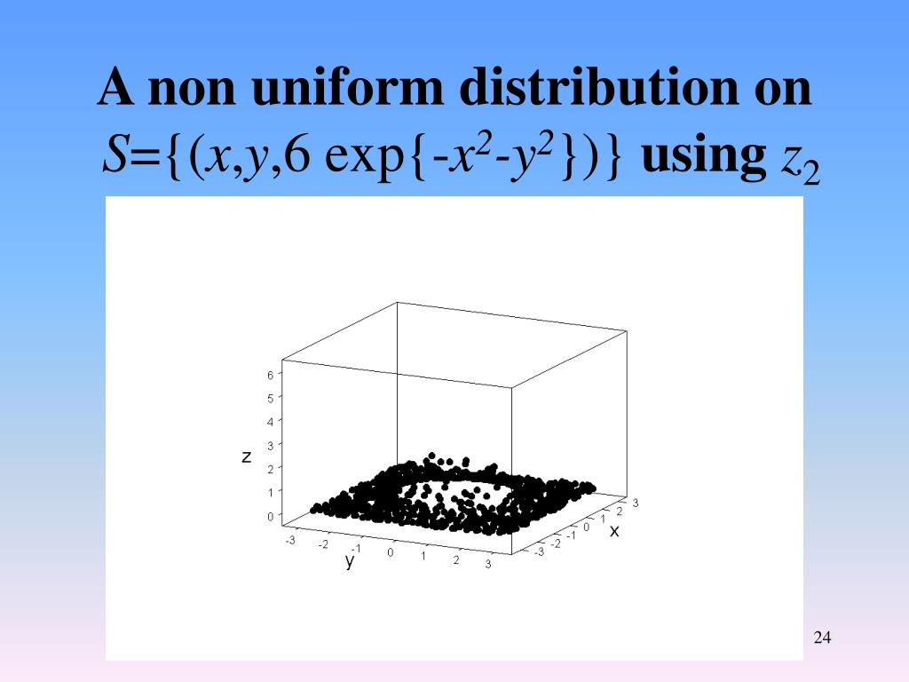 A non uniform distribution on