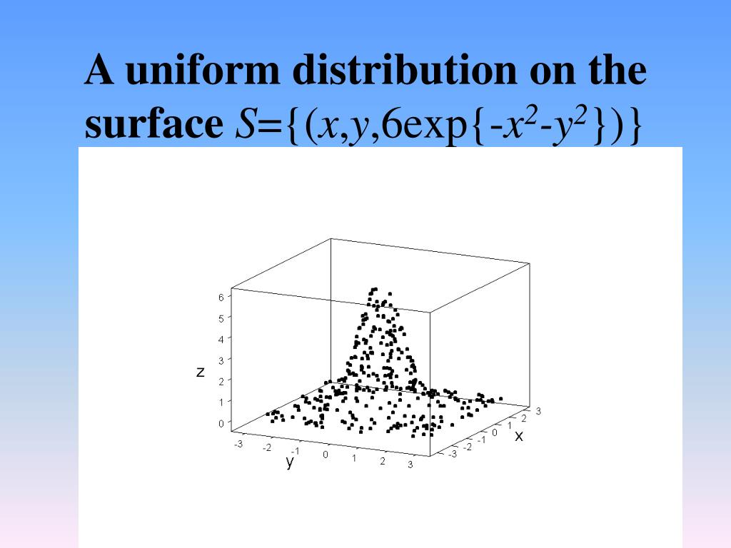 A uniform distribution on the surface