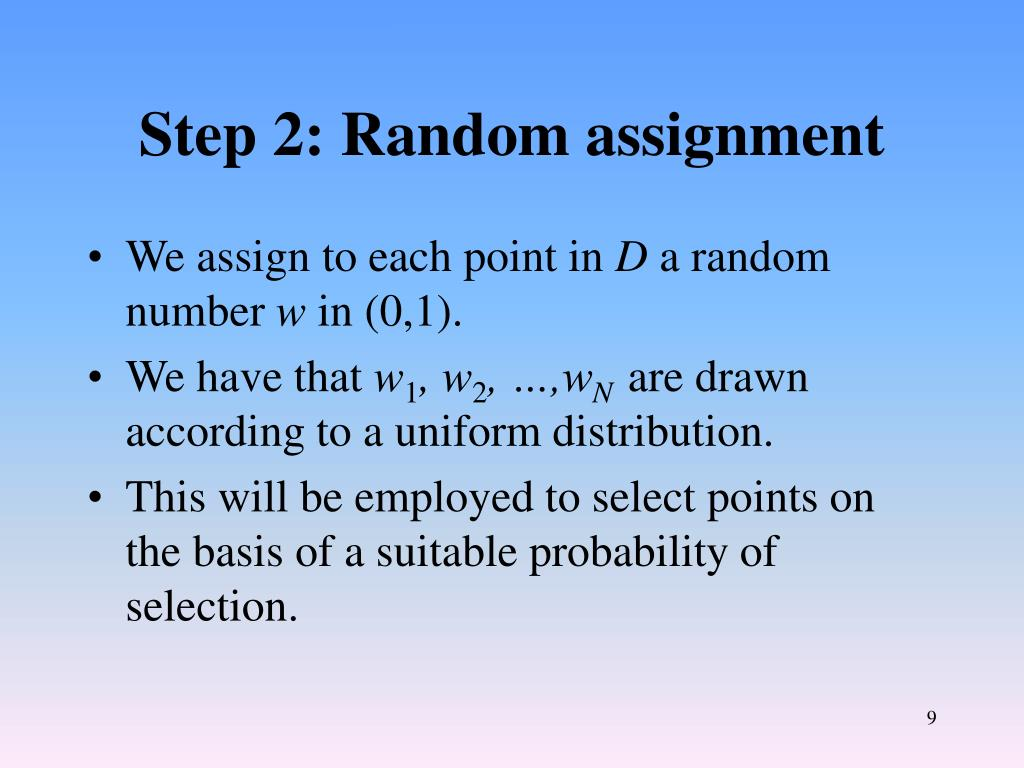 Step 2: Random assignment