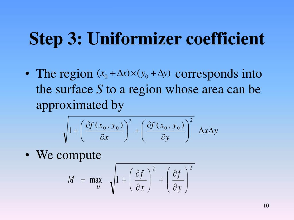Step 3: Uniformizer coefficient