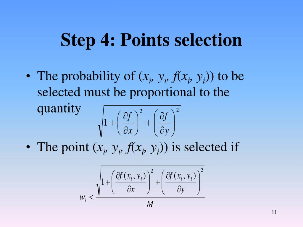 Step 4: Points selection