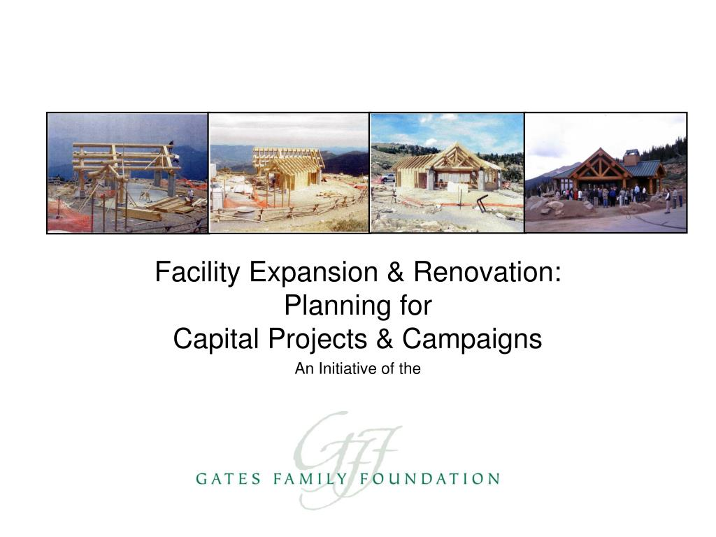 facility expansion renovation planning for capital projects campaigns an initiative of the l.