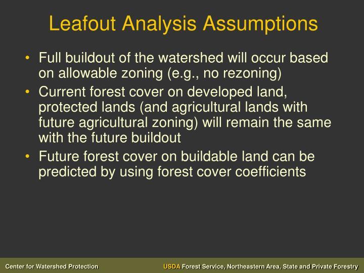 Leafout Analysis Assumptions