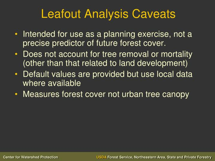Leafout Analysis Caveats