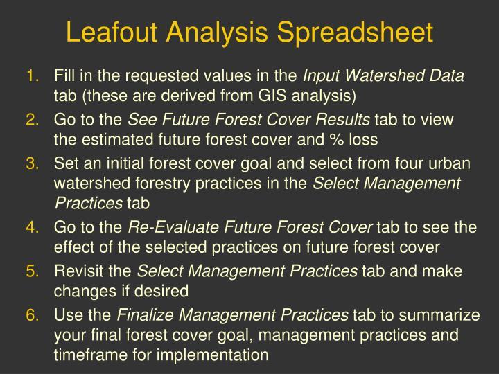 Leafout Analysis Spreadsheet