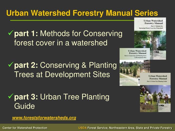 Urban Watershed Forestry Manual Series